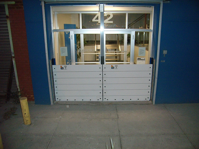 Barriers protecting glazed doors