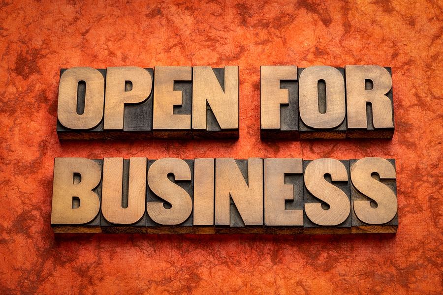 open for business relief carving