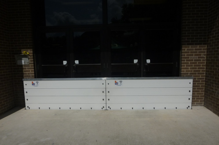 flood ark barriers installed in Texas tax office