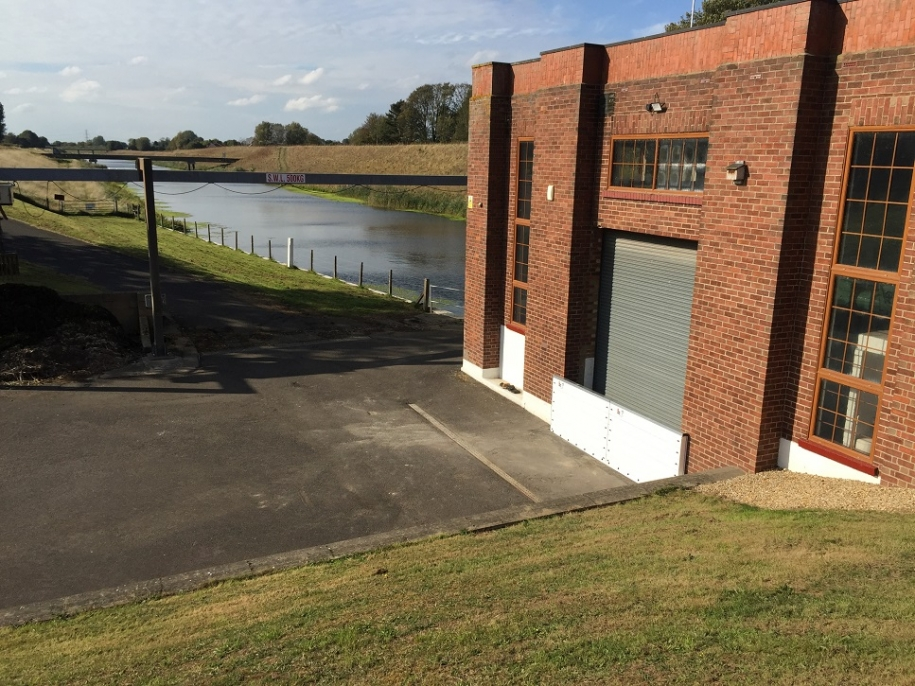 side view of Tydd pumping station