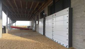 Barriers erected at the Bancaster Staithe Sailing Club clubhouse