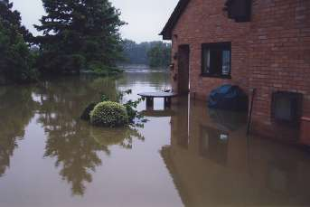 Flooded house and garden homepage