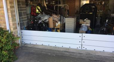 Barriers Protecting Garage