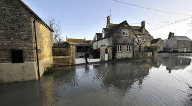 Our flood defences protecting homes devastated by flooding.